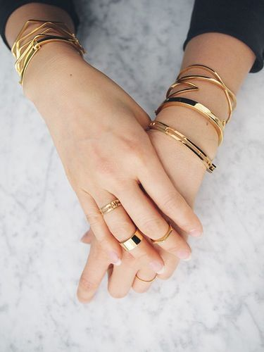 stacked gold via uncovet