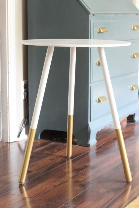DIY dip dyed table chasing shiny objects