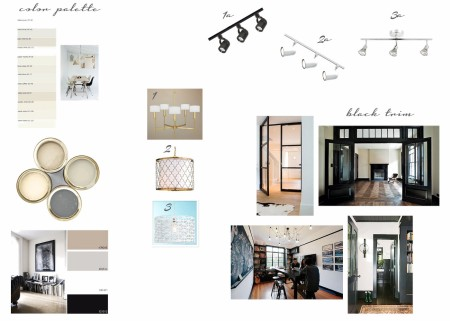 baseboard & lighting mood board