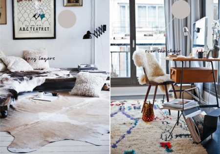 sheepskin draped chair via the little room of style
