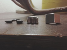 Bold, geometric, mixed metal rings from Forever 21 [$3.80]