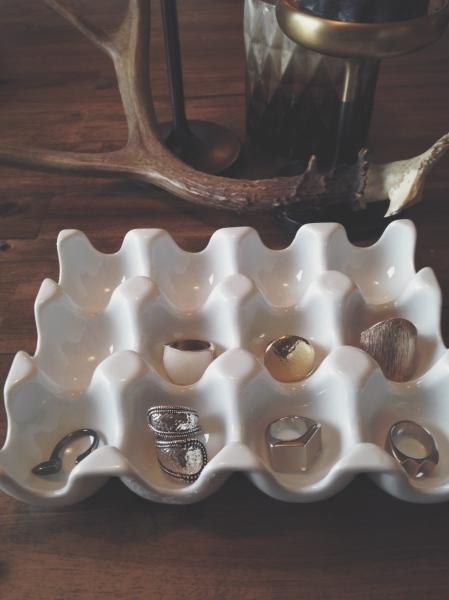 chunky metal rings